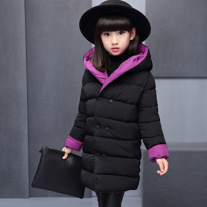 Thick Down Baby Clothes Girls Coats 2018 Winter Hooded Kids Jackets for the Girl Parkas Cotton Sweet Children Clothing 3dp048 kids clothes children jackets for boys girls winter white duck down jacket coats thick warm clothing kids hooded parkas coat