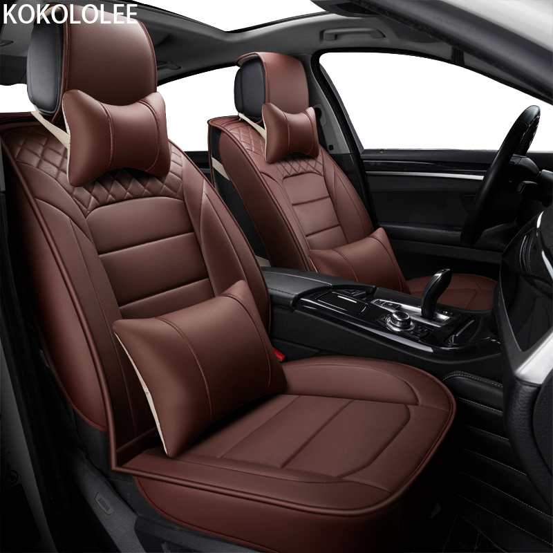 [kokololee] pu Leather Car seat covers For mercedes w211 lacetti rx 460 tiguan 2017 mitsubishi lancer renault kadjar car-styling
