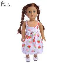 "Fleta ניו תות דפוסי קלע חצאית בכושר 43cm בייבי נולד Zapf או 18 ""ילדה אמריקאית בובה אביזרים b77"