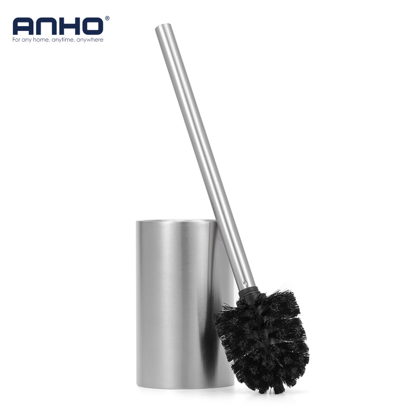 Stainless Steel 304 Toilet Bowl Brush Set Cleaning Tool Brush With Base Plate Kit Accessories