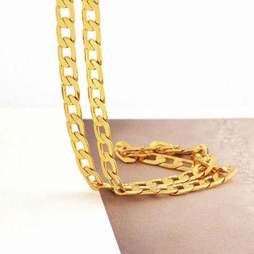 Aliexpressm  Buy Solid 14 Carat Gold Gf Mens Necklace