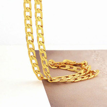 Solid 14 Carat Gold GF Mens Necklace Chain Birthday Valentine Gift valuable Unconditional Lifetime Replacement Guarantee