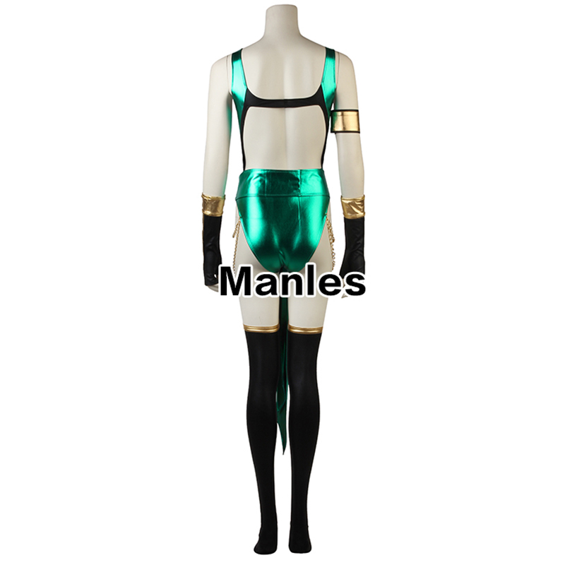 Image 3 - Mortal Kombat X Cosplay Jade Kitana Costume Clothing Game Superhero Mask Suit Adult Women Halloween Christmas Custom Made Party-in Game Costumes from Novelty & Special Use