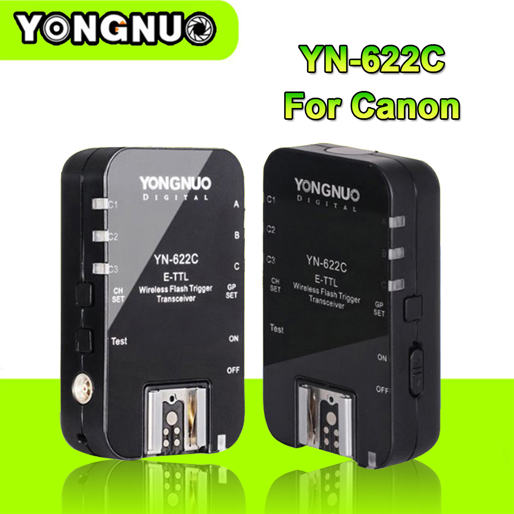 Yongnuo YN-622C YN 622 Wireless ETTL HSS 1/8000S Flash Trigger 2 Transceivers for Canon DSLR Cameras Russian Fast Shipping yongnuo yn 622c yn 622 wireless ettl hss 1 8000s flash trigger 2 transceivers for canon 1100d 1000d 650d 600d 550d 7d 5dii 40d