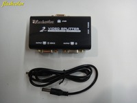 Flashcolor VGA Splitter 2 Ports VGA Video Splitter 250MHZ 1 Input 2 Output Support USB Power