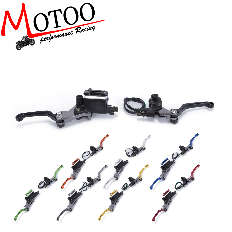 Motoo - CNC 7/8 22mm Universal Motocross Dirt Bike Brake Clutch Lever For Honda XR230 MOTARD 2005-2009 Hydraulic Brake Lever Pit nuk first choice пластик 150 мл с силиконовой насадкой