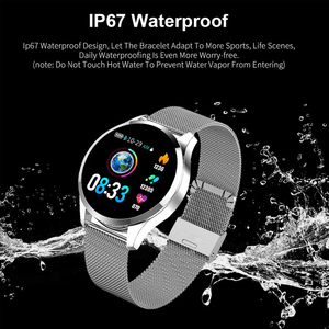 Image 4 - Q9 Smart Watch Men  Waterproof Message Call Reminder Smartwatch Women Heart Rate Monitor Fashion Wristband Fitness Tracke.