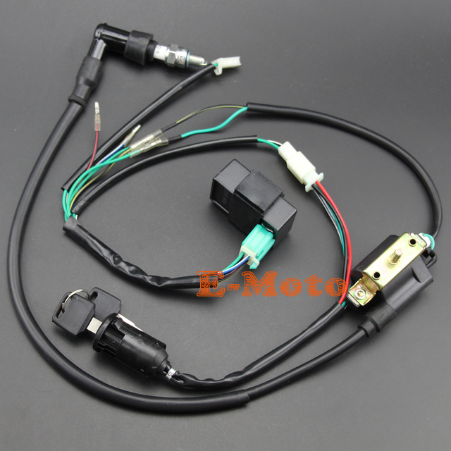 ignition coil cdi ngk spark plug electric wiring harness set for ignition coil cdi ngk spark plug electric wiring harness set for 50cc 70cc 90cc 110cc 125cc