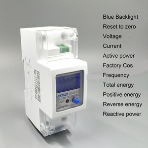 65A 100A 220V 230V 50HZ 60HZ voltage current Positive reverse active reactive power Single phase Din rail Watt hour energy meter(China)