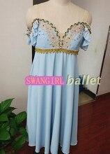 blue cupid professional dance costume romantic ballet dresses girls performance tutu dresses purple lycrical ballet dressSB0045