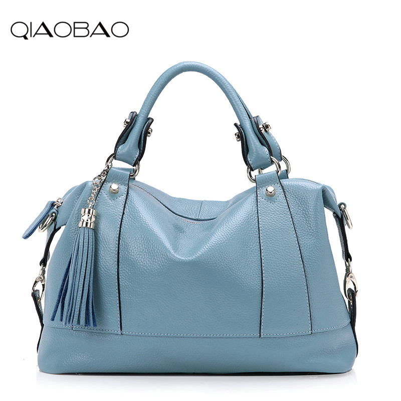 QIAOBAO Large Handbags 2018 Women Bag Fashion Cowhide Leather Woman Shoulder Bag Casual Tassel Tote Bags Sac A Main Femme Bolsa muswint women handbag fashion genuine leather woman shoulder bag casual tassel tote bags sac a main femme bolsa feminina couro