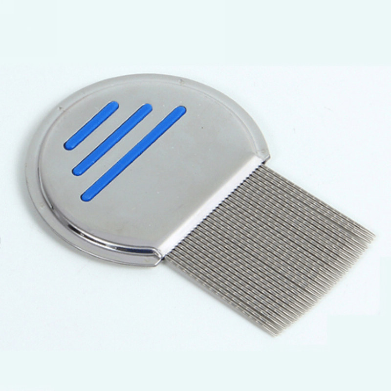 Mayitr 1pc Silver Head Lice Comb Stainless Steel Fine Tooth Flea Nit Hair Combs Suitable For Kids Pet