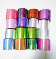 Nieuwe 1 roll Holografische Shiny Laser Nail Art Transfer Folie Sticker Papier Gebroken Glas DIY Nail Beauty Decal Decoratie Gereedschap