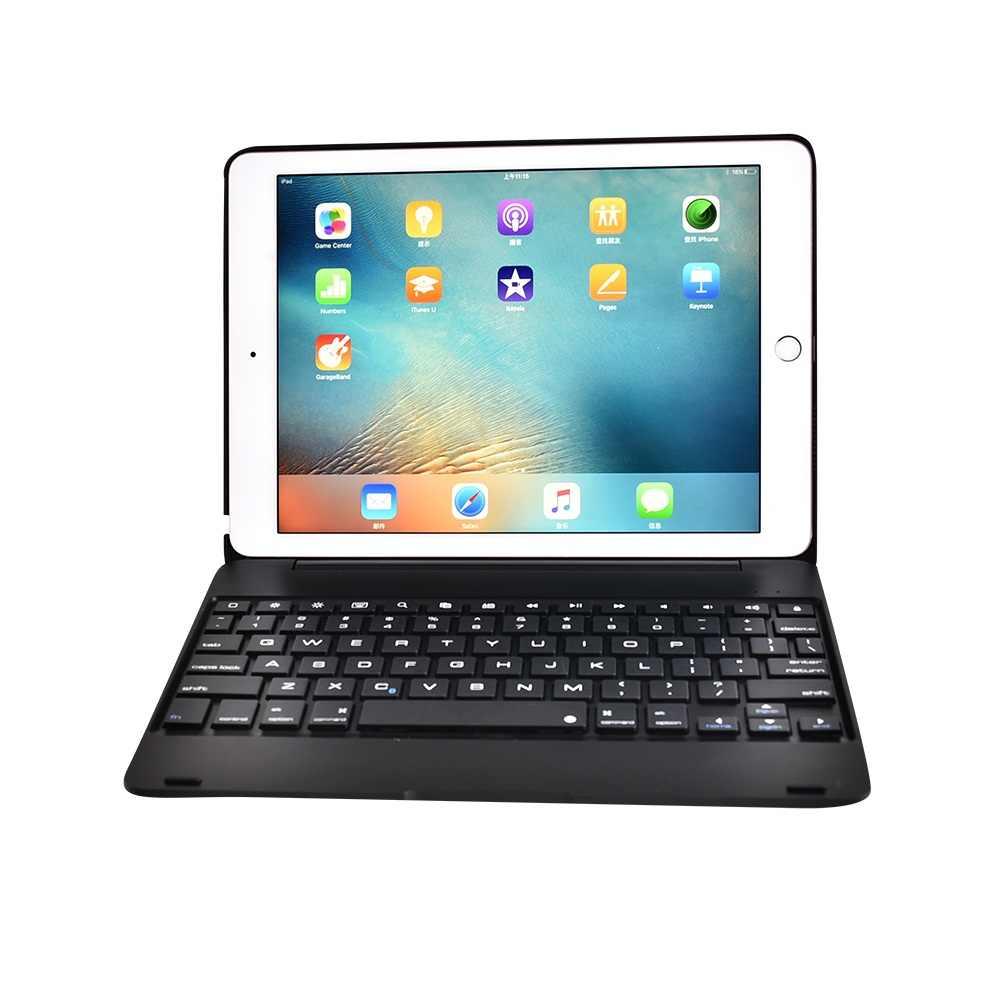 Тонкий беспроводной Bluetooth клавиатура складная подставка чехол Полный защитный ABS чехол для iPad Mini 1234 Air 1 2 Pro 9,7 Новинка 2017 2019