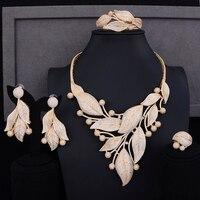 Missvikki итальянские модные ювелирные украшения Дубай большой филиал 4 комплект ювелирных изделий серьги браслеты ожерелье кольцо Свадебная в