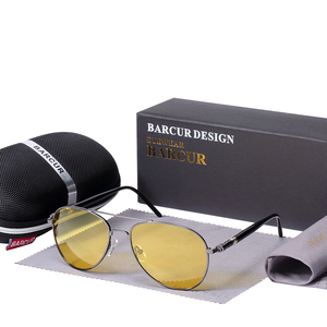 Image 3 - BARCUR солнечные очки ночного видения мужские ночные поляризованные очки для вождения антибликовые очки