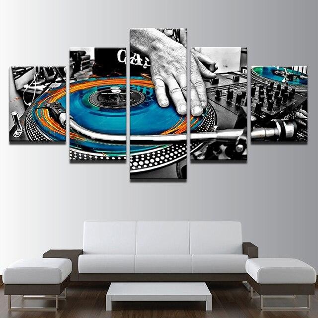 Pintura abstracta HD impreso pared Marcos Decoración para el hogar 5 ...