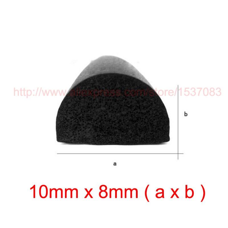 5m x 10mm x 8mm EPDM rubber foam self adhesive cabinet door seal strip weatherstrip