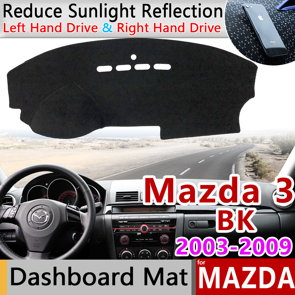 For Mazda 3 BK 2003 2004 2005 2006 2007 2008 2009 MK1 Anti-Slip Mat Dashboard Cover Pad Sunshade Dashmat Car Accessories Mazda3