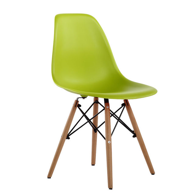 Online Shop Dining Chair Polymer Furniture The Modern Popular Plastic Chair  Leisure Composition Of Synthetic Resin And Solid Wood Legs 4PCS |  Aliexpress ...