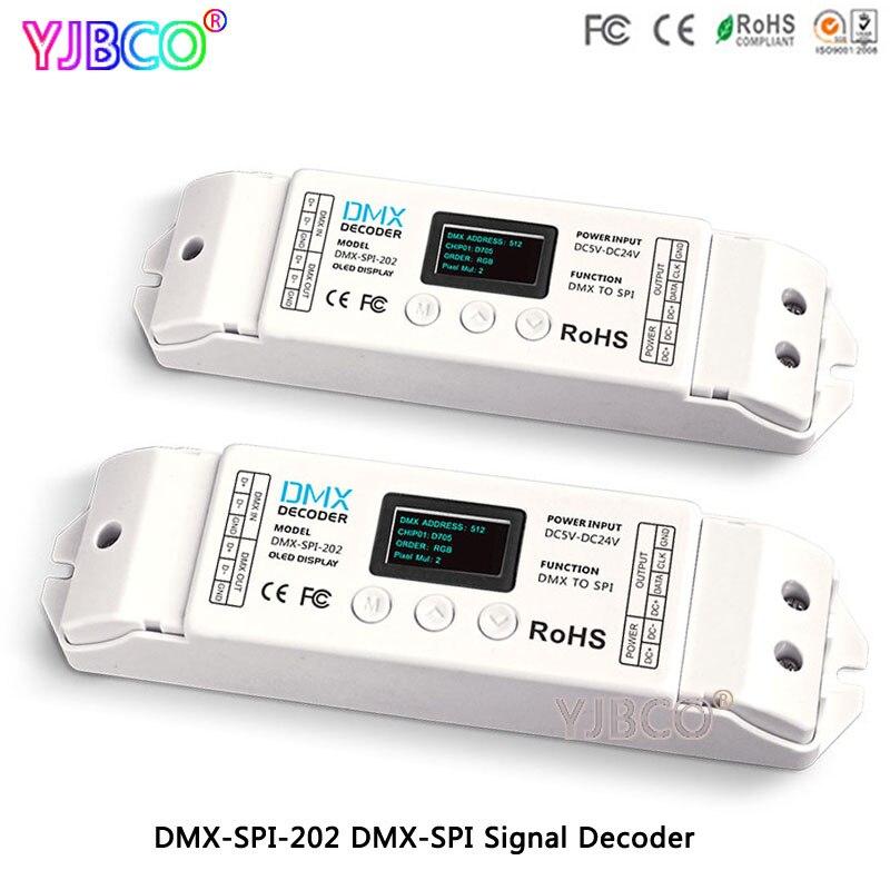 DMX-SPI-202 décodeur DMX à SPI WS2811/WS2812/WS2812B/TM1804/WS2801/LPD6803/LPD8806/1903 led de contrôle pour ruban à bande led