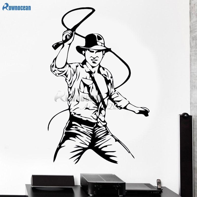 Indiana Jones Wall Decal Movie Film Vinyl Sticker Kids Room Home Art Decor E614