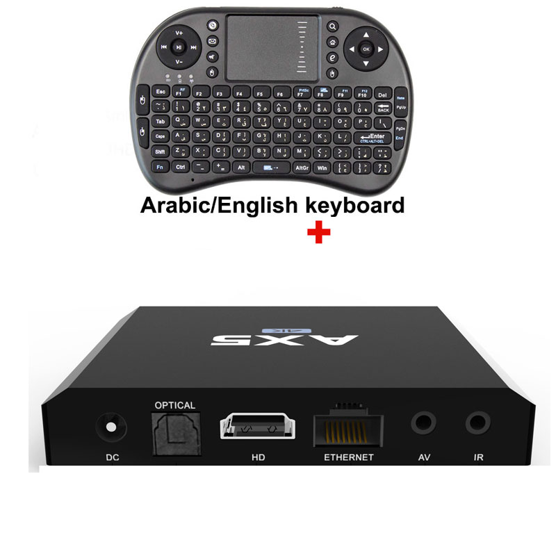 New AX5 Android 6.0 TV Box Amlogic S905X 2GB RAM 16GB ROM Quad Core WIFI HDMI 4K*2K HD Smart Set Top BOX Media Player + Keyboard  mesuvida k6 tv box amlogic s812 android 5 1 1 quad core 2 4ghz 5ghz wifi bluetooth 4 0 2gb ram 8gb rom set top box media player