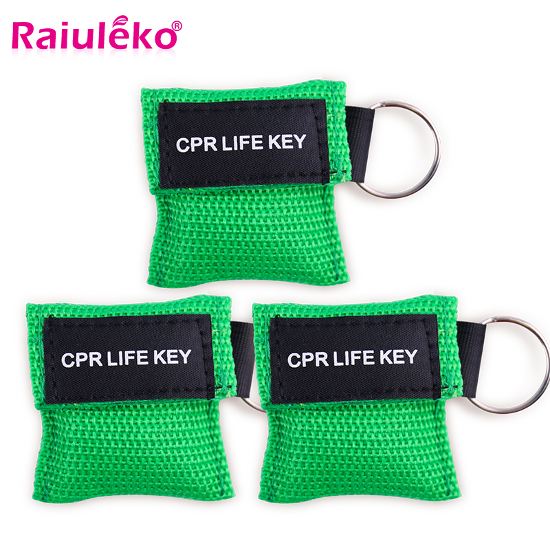 Image 2 - 20pcs 3 Color Medical CPR Resuscitator Mask Keychain First Aid Emergency Face Shield CPR Mask CPR Mask for Outdoor Survival-in Masks from Beauty & Health