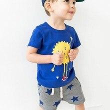 Брендовая одежда для маленьких мальчиков Little maven, летние хлопковые комплекты для детей, футболка + шорты с принтом в виде звезд, 20209, 2019