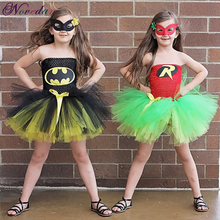 Superman Batman Girls Tutu Dress Super Hero Inspired Baby Costume Kids Cosplay Christmas Halloween Party Net yarn Tutu Dresses