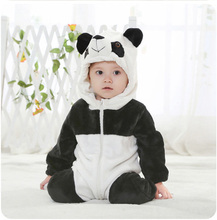 Autumn 2018 Vogue Outfits New Born Child Garments Christmas for Youngsters Costume Animal Romper Panda Child Garments