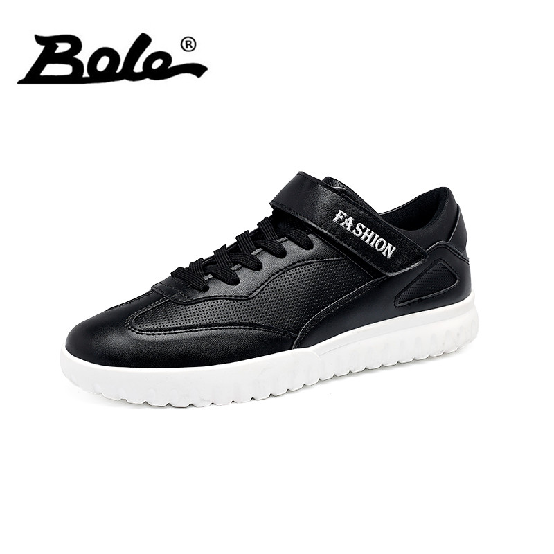 BOLE Size 39-45 Fashion Men Casual Shoes Rubber Sole Non-slip Lace Up Sneaker Round Toe Men Flats Waterproof Casual Shoe for Men