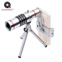 Alumotech Smart Phone 18x Telescope Camera Zoom Optical Cellphone Telephoto Lens For iphone samsung Huawei oppo vivo xiaomi