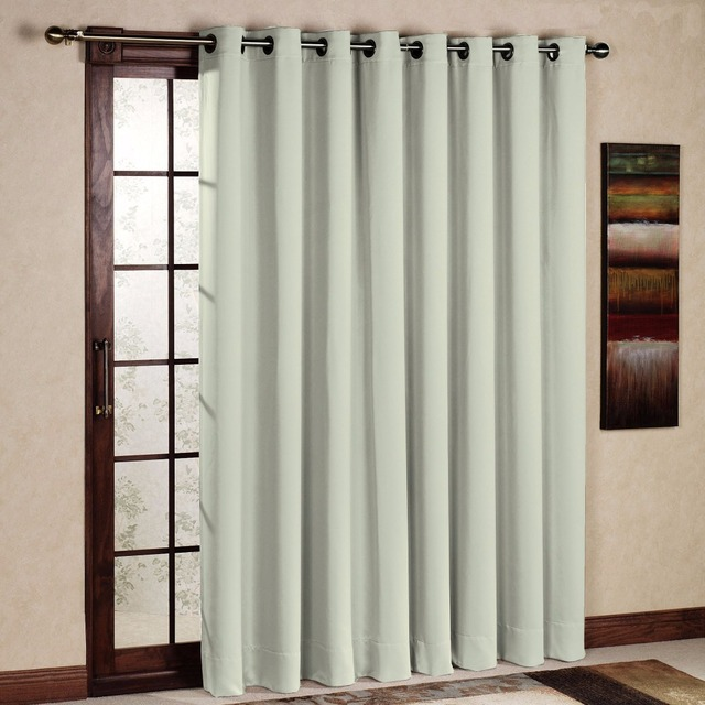 One Panel Fashion Flat Window Curtan Modern Blackout Solid Thermal Insulated Curtain Ivory Woven Cortina Sala