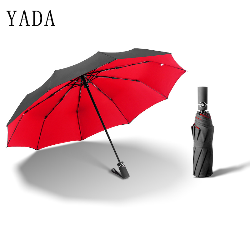 YADA New 10K Solid Luxury Windproof Automatic Double Deck Umbrella For Women Men UV Auto Folding Sun Rainy Female YD065