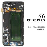 Mobile Phone Pantalla Replacement Parts For Samsung Galaxy S6 Edge Plus LCD Screen With Frame 5.7'' G928 G928F AMOLED Display