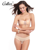 COLLEER Newest Fly Bra Invisible Bra Strapless Push Up Bras Bandage Blackless Stick Gel Silicone Bras