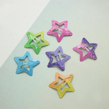 Beautiful Kids Pentagram Hair Clips Glitter BB Colors 12PCS/Set Children Asymptotic color Candy Color