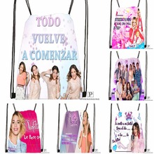 Custom Violetta Backstage Drawstring Backpack Bag for Man Woman Cute Daypack Kids Satchel Black Back 31x40cm