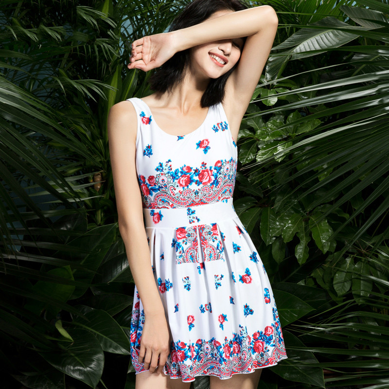 NIUMO New one-piece swimsuit Woman printing Floral Retro Siamese Skirt type Spa swimsuit Large size Swimwear Swim niumo new one piece swimsuit woman printing floral retro siamese skirt type spa swimsuit large size swimwear swim