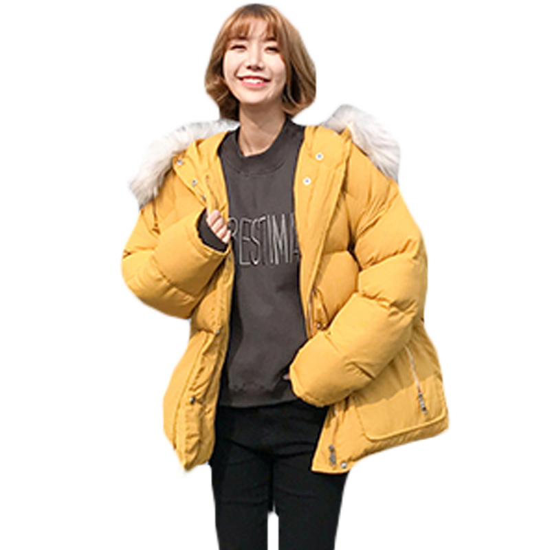 Womens Vintage Faux Fur Trim Hood Parka Zipup Snap Quilted Feminino Winter Coat Newest Design Pockets Padded Jacket Female XH893 zip up faux fur hood parka jacket
