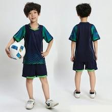da11bc796 Child Kids Soccer Jerseys Set Sports Kit Youth Boys Girls Survetement Football  Shirts Training Shorts Uniforms Suit Print Custom