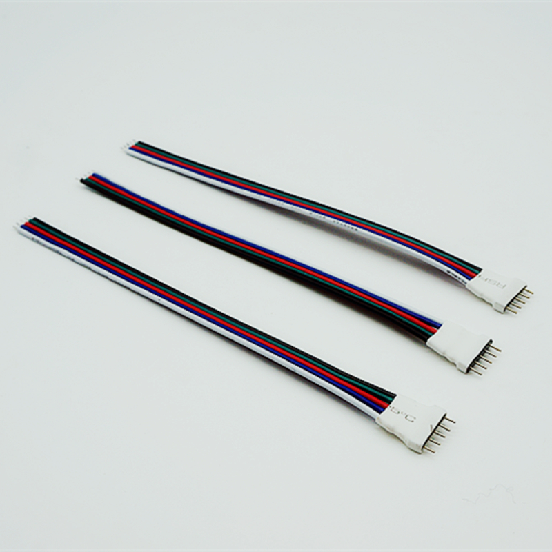 10 pcs 5Pin Male Connectors For RGBW RGB + Warm/White 5050 LED Strip 5050 led light strip 10mm connectors white black red 2 pcs