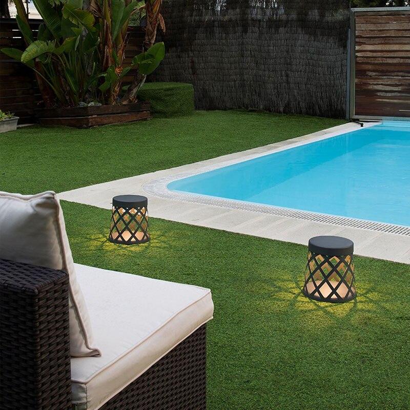 Светодиодный светильник для сада, открытый водонепроницаемый простой современный алюминиевый подсвечник, лампа для газона - 6