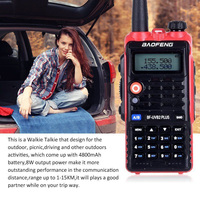 Baofeng BF UVB2 Plus 8W High Power 7.4V 4800mAh Li ion Battery LED Two Way Radio Walkie Talkie Dual Band UVB2 with Earphone