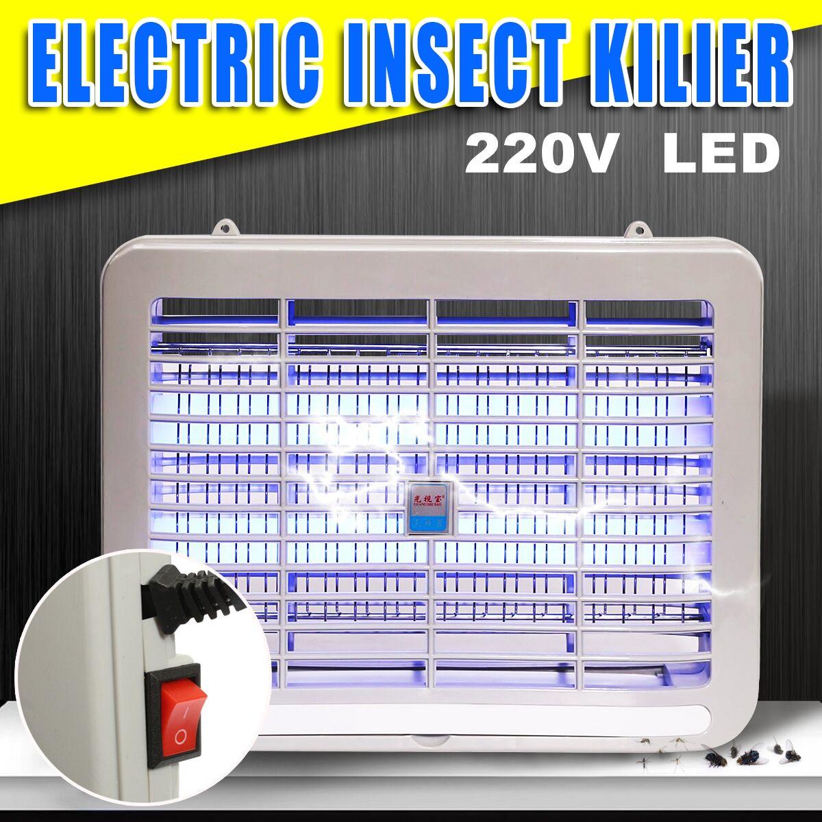 220 V lámpara del asesino del Mosquito eléctrico interior 2 W LED noche luz dormitorio matar insectos plagas insecto avispa zapper volar trampa