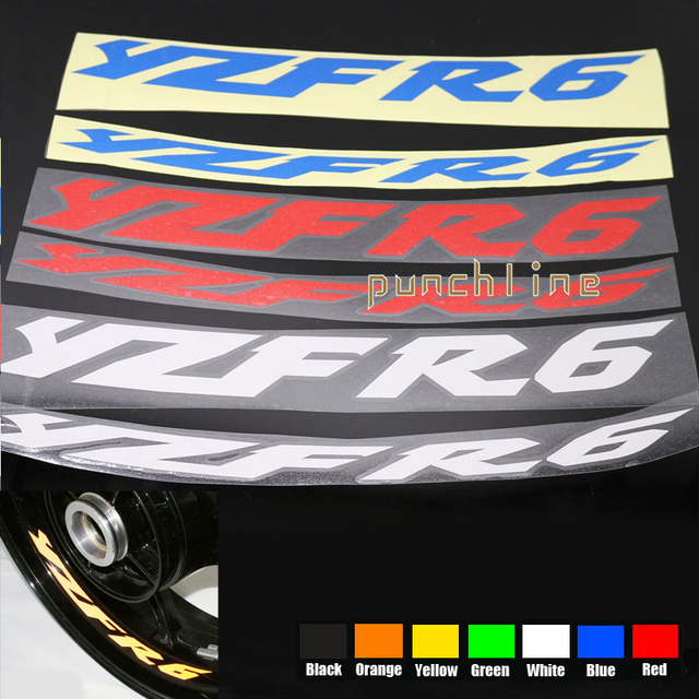 For YAMAHA YZF R YZF R YZFR Motorcycle Front Rear CUSTOM - Custom motorcycle stickers