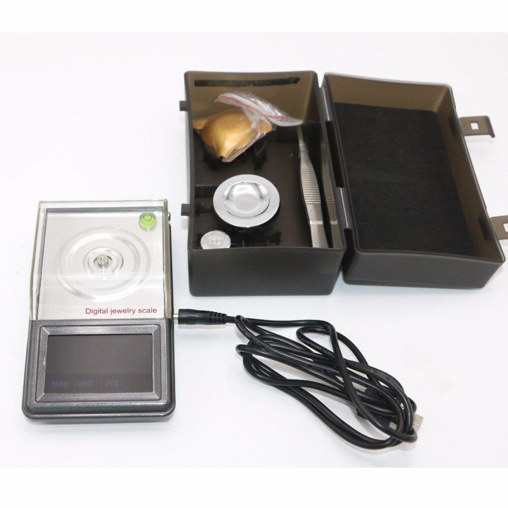 0.001g ~ 50g écran tactile haute définition bijoux échelle qualité poche électronique numérique balance + boîte de détail