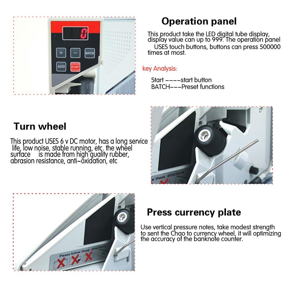 Mini hordozható pénzszámláló a legtöbb pénznemű bankjegy - Mérőműszerek - Fénykép 6