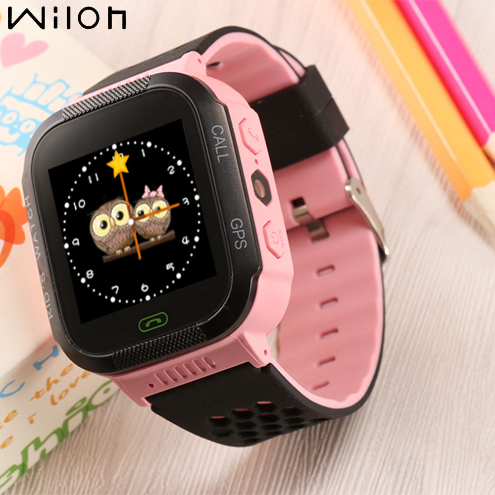 dhl 2018 hot kids gps tracker watch kids smart watch with flash light touch screen sos call. Black Bedroom Furniture Sets. Home Design Ideas